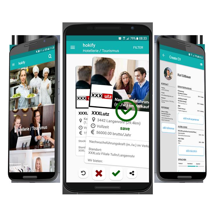 6. hokify Job App für Android_iOS